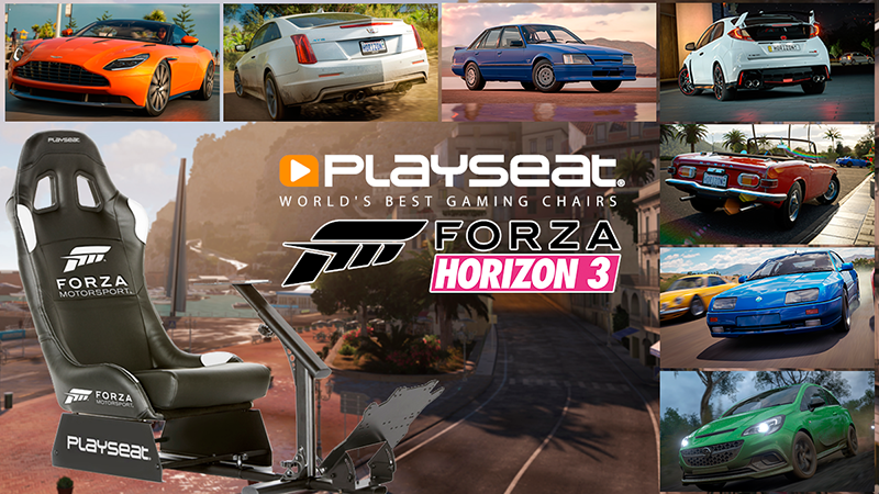 Playseat® Car Pack in Forza Horizon 3!